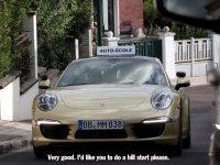 Porsche İle Direksiyon Sınavına Çıkan Sürücü Adayları