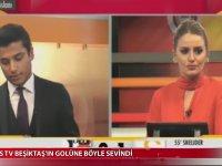 Beşiktaş'ın Golüne Sevinen GS Tv Çalışanları