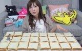 6 Dakikada 100 Dilim Ekmek Yiyen Kız
