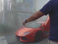Vale İçindeyken Alev Alev Yanan Lamborghini