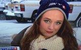 Buz Gibi Havada Bayan Muhabirin Sümüğü ile İmtihanı