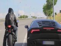 Lamborghini Huracan ve Yarış Motoru Kapışması - İstanbul
