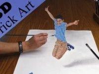 Aşırı Gerçekçi Zıplayan Çocuk Çizmek