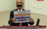 Mecliste Ağzını Siyah Bantla Kapayan Vekil