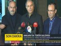 Ankara'daki Patlamayla İlgili 3 Bakan'dan Açıklamalar!