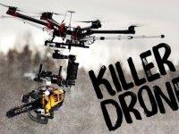 Drone Üzerine Yerleştirilmiş Testere