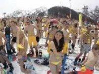 Soçi'de Mayolarla Kayak Rekoru