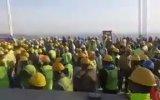 Yavuz Sultan Selim Köprüsü'nde İşçilerin Eylem Yapması