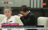 23 Nisan'da Erdoğan'a Soru Sorarken Ağlayan Çocuk