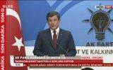 Davutoğlu  Başbakanlığı Bıraktığını Açıklaması