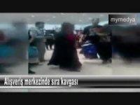 Adana'da Kadınların Alışveriş Merkezinde Sıra Kavgası