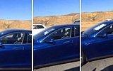 Tesla Aracını Otomatik Pilota Alıp Şoför Koltuğunda Uyumak