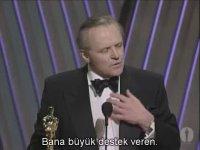 Anthony Hopkins - Oscar Konuşması (1992 - Kuzuların Sessizliği)