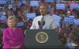 Obama'nın Clinton'ın Seçim Mitingine Katılması
