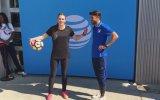 Futbol Yeteneği İle David Villa'yı Şaşkına Çeviren Kız