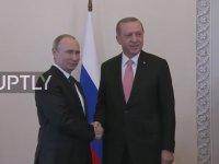 Putin'in Erdoğan'ı Karşılama Görüntüleri