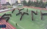 Trabzon Polis Okulundan Tüyleri Diken Diken Eden Koreografi