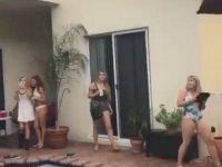 Havuza Çatıdan Ters Taklayla Tersten Dalan Eleman