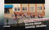 Güngören'de Suriyeli Öğrencilere Sıra Dayağı