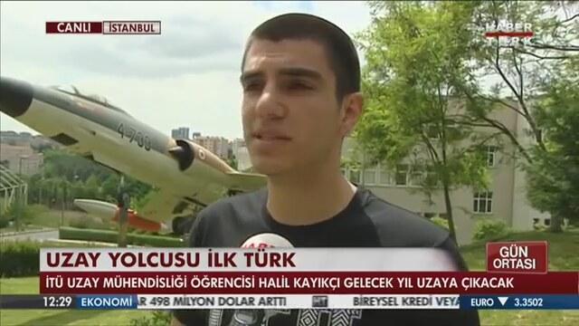 Uzaya Gidecek Ilk Türk Halil Kayıkçı Video Alkışlarla Yaşıyorum