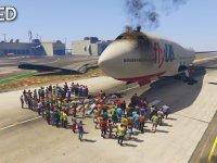 GTA 5'te 100 Kişinin Uçağı Durdurması