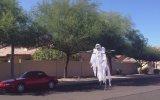 Drone ile Yapılan korkunç hayalet