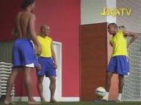 Ronaldinho, Robinho ve Roberto Carlos Üçlüsünün Antrenmanı