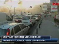 Zeytinburnu'daki Binanın 5 Saniyelik Yıkılma Anı