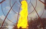 Yaklaşık 6 Metrelik Alev Tornadosu Yapan Çılgın Mucit