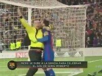 Messi'nin Enteresan Gol Sevinci