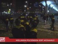 Hollanda'da Türk Göstericilerin İlginç Diyalogları