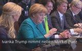 Angele Merkel'in Ivanka Trump'a Bakışı