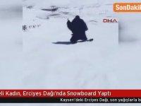 Snowboard Yapan Suriyeli Kadın - Kayseri