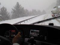 Karlı Yollarda Otobüs Sürme Keyfi
