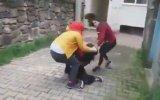 Yerde Sürüklemeli Türk Kızı Kavgası
