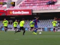 Barcelona B 12 Takımının 12 Gol Atarak Rakip Kaleciyi Ağlatması