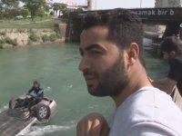 Kanala Uçan Sürücü: Otomobilim Serinlemek İstedi