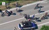 Giro d'Italia 2017  Bisiklet Yarışı Kaza Anı