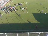 Amedspor'un Son Dakika Golü Sonrası Kavga Çıkarması! - Drone Kamerası