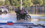 Haber Sırasında Çukura Düşen Motosikletli