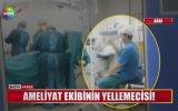 Ameliyat Ekibini Kartonla Yelleyen Hastane Personeli