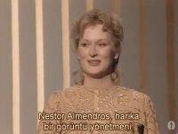 Meryl Streep - Oscar Ödülü Konuşması (1983)