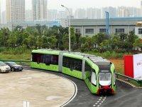 Dünya'da İlk Raysız Tren - Otobüs