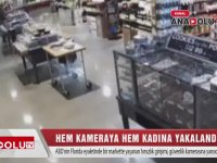 Hem Kameraya Hem Kadına Yakalanan Hırsız