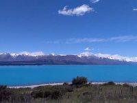 Yeni Zelanda Tekapo Gölü ve Good Shepherd Kilisesi