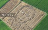 Tarlasına Putin'in Portresini Çizen İtalyan Çiftçi