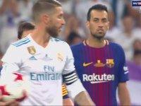 Ramos'un Yaptığı Hareket ile Messi'yi Ayar Etmesi