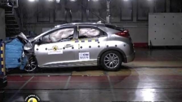 Euro NCAP Honda Civic 2012 Kaza Testi | İzlesene.com