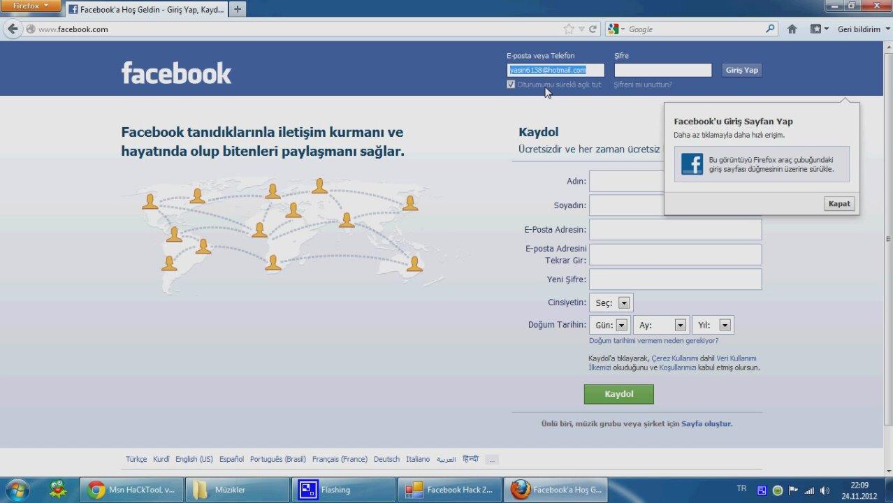 Facebook hack tam indir - Facebook sifre kirma