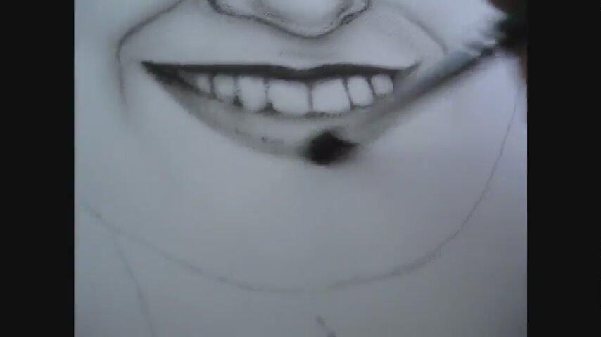 Karakalem Portre Dudak çizim Tekniği Izlesenecom